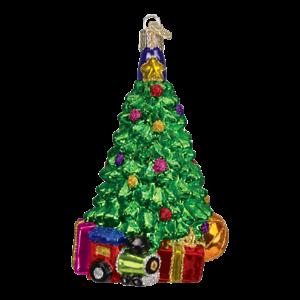 Old-World-Christmas-CHRISTMAS-MORNING-TREE-48017-N-Glass-Ornament-w-OWC-Box