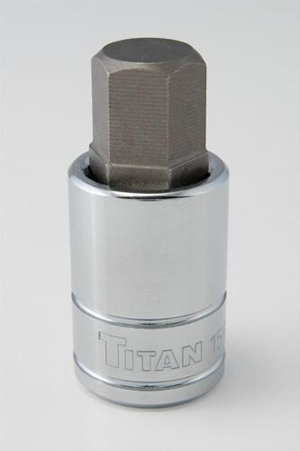"""Titan Tools 15614 Hex Bit Socket 1//2/"""" Drive 14mm Chrome"""