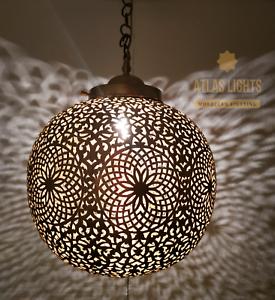 Details About Moroccan Pendant Light Br Antique Vintage Lamp Hanging Chandelier Ceiling Diy
