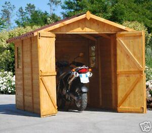 Garage casetta in di legno 234x325 box moto bmw ducati for Casette in legno usate ebay