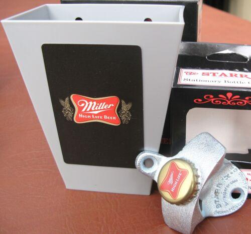 NIB Miller High Life Custom Beer Bottle Opener Playing Card /& Cap Catcher .