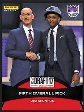 2017 Panini Instant De'Aaron Fox NBA Draft Night RC #2 5th Overall Pick Kings