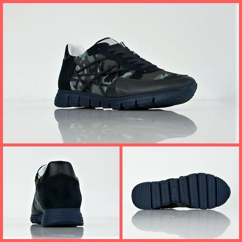 L4K3 Sneaker Schuhe Mann MR groß 17 camou Eva Farbe Blau Tarnung Winter 2017