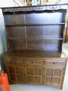 Large Country Welsh Dresser Shabby Chic Style EBay