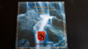 COFFRET SET EURO COIN SUOMI FINLANDE 2004 + MEDAILLE EXCELLENT