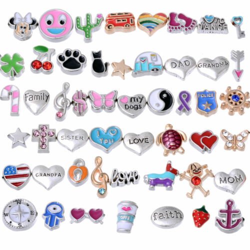 RUBYCA Wholesale Floating Charms Lot fit Living Memory Locket DIY Jewelry Making