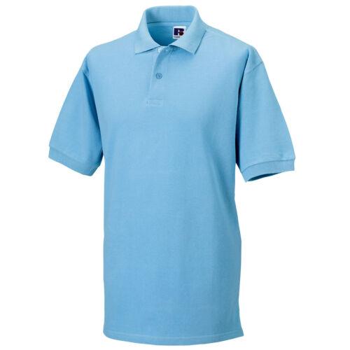 Mens Russell Classic 100/% Cotton Colour Pique Polo Neck Collar Shirt Top