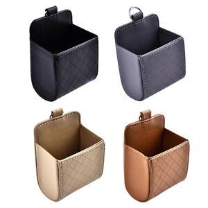 1-2x-Catch-Catcher-Box-Caddy-Leather-car-Seat-Gap-Slit-Pocket-Storage-Organizer