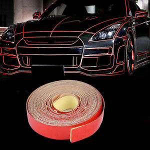 5 M Red Warning Reflective Stripe Safety Tape Car Body Self