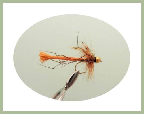 variété de modèles PAPA LONGUES JAMBES Fishing Flies pêche à la mouche BOX4 40 par boîte