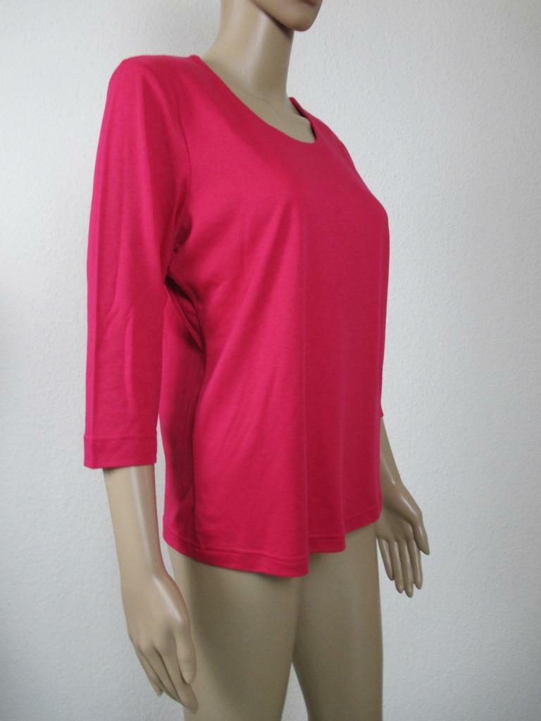 Efixelle Shirt mit 3 4 Arm, Rundhalsausschnitt, Farbe Rosa , Größe 38