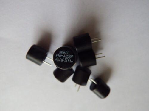 PCB al piombo Fast agendo, MSF 250 50 ma 10 X FUSIBILE 250 Vac 250 Vcc Series