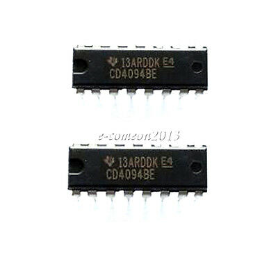 50 PCS CD4094BE DIP-16 CD4094 4094 CMOS 8-STAGE SHIFT-AND-STORE BUS REGISTER