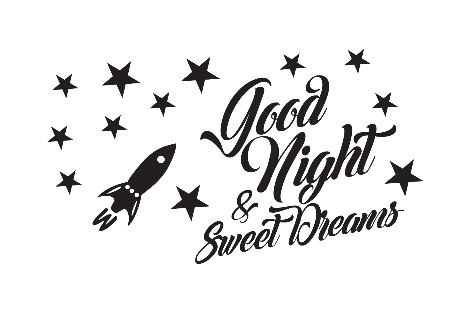 Good Night Sweet Dreams Vinyl Vinyl Vinyl Decal 4f12ad
