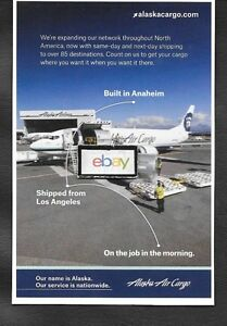Alaska Airlines Air Cargo 737 400f Our Name Is Alaska Service Is Nationwide Ad Ebay