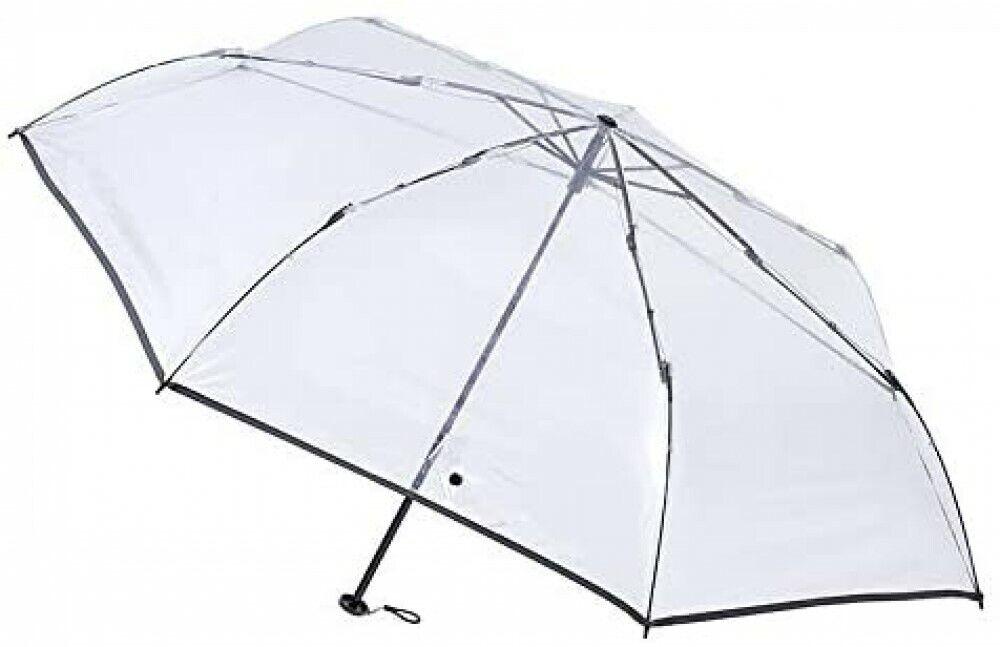[Gray] estaa Vinyl Lightweight Folding Simple Umbrella with Case 220g JAPAN