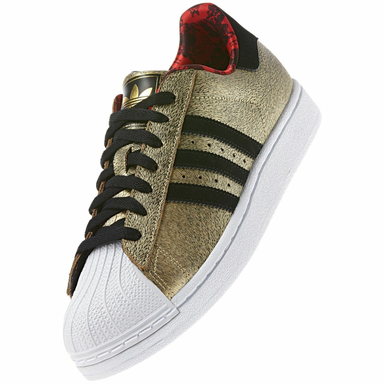 LIMITED ED~Adidas SUPERSTAR CHINESE NEW YEAR OF THE HORSE Shoe gazelle~Men sz 12