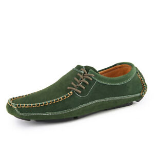 Mens-Casual-Loafers-Leather-Slip-On-Moccasins-Lazy-Driving-Soft-Shoes-Breathable