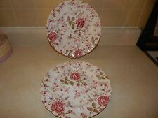 2 Johnson Brothers Rose Chintz Dinner Plates - England Ironstone Pink Flowers