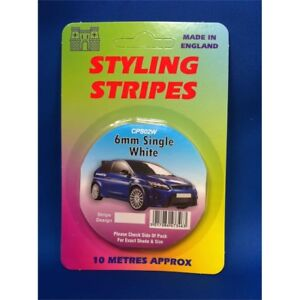 6mm-Single-White-Stripe-Car-Decal-Pin-10-Length-Styling-Tape-10m-Castle