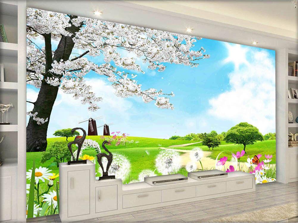 Happy Loyal Garden 3D Full Wall Mural Photo Wallpaper Printing Home Kids Decor