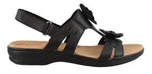 48e6432640f5 Image is loading Clarks-CLARKS-Womens-Leisa-Claytin-Flat-Sandal-Pick-