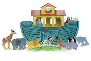 NEW IN BOX* Le Toy Van Wooden Noah's Great Ark - 23 pieces - 10 pairs of animals