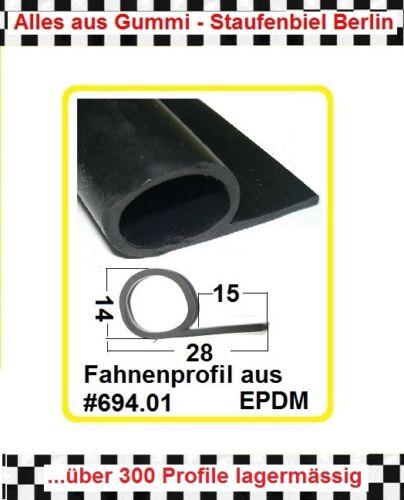 1 MUSTER Gummidichtung Dichtung Fahnenprofil Kederprofil 694.01 aus BERLIN
