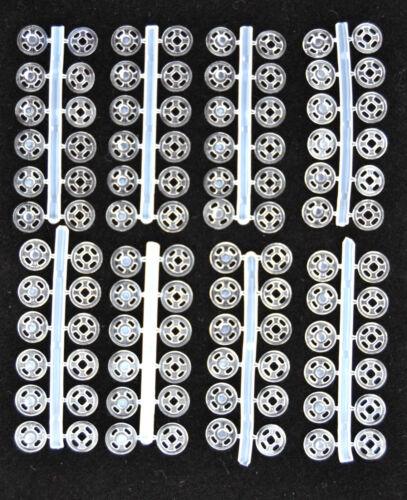 Nylon Druckknöpfe  transparent 7 mm zum Annähen 48 St.