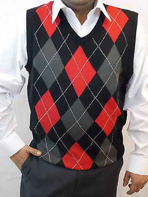 MEN'S SWEATER VEST ARGYLE ELEVEN COLORS