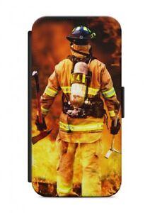 iPhone-FUEGO-BOMBEROS-2-FUNDA-FLIP-Cubierta-de-la-caja-de-sobres-Proteccion