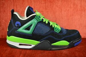 save off 8456a 98cad Details about CLEAN Nike AIR JORDAN IV 4 RETRO DB DOERNBECHER SIZE 9.5 Blue  GREEN 308497 015