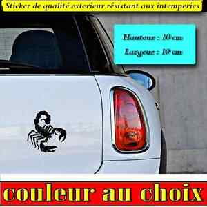 stickers autocollant scorpion deco humour voiture frigo murs moto casque ebay. Black Bedroom Furniture Sets. Home Design Ideas