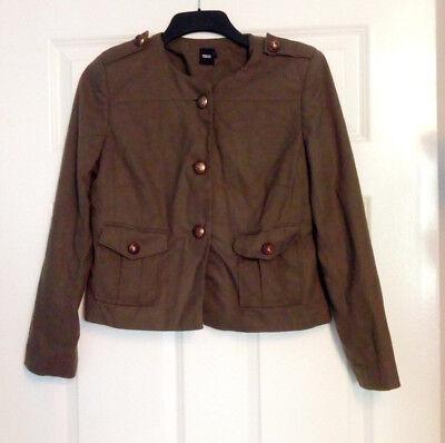 Asos Ladies Military Style Green Jacket Coat Buttons Pockets UK Size 12 |  eBay