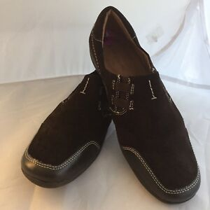 Naturalizer Womans Suede Slip On Shoes - Brown - Shoes 8.5 NWOB