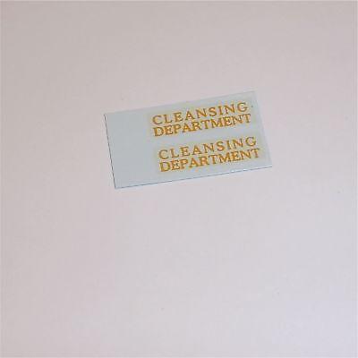 Matchbox Lesney 38 a Karrier Refuse Cleansing Dept Decal Set