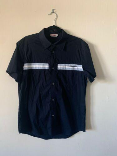 Mens Prada Striped Short Sleeve Button Down Shirt
