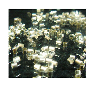 250 QUETSCHPERLEN CRIMPS QUETSCHRÖRCHEN 2mm STOPPER SILBER CRIMP BEADS BEST SF46