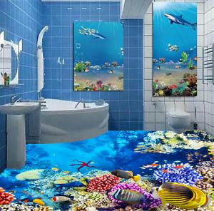 3D Bright Seabed 8335 Floor WallPaper Murals Wall Print 5D AJ WALLPAPER UK Lemon