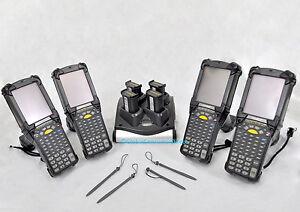 LOT of 4x Refurb Motorola MC9090G MC9090-GF0HJEFA6WR WM Barcode Scanner +CHARGER