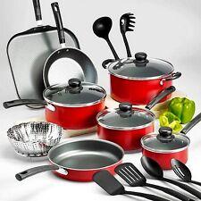 Tramontina PrimaWare 18-Piece Nonstick Cookware Set Red