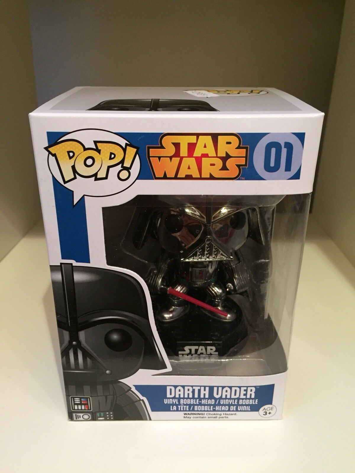 Darth Vader Chrome HOT edizione limitata esclusiva TOPIC POP STAR WARS metallico