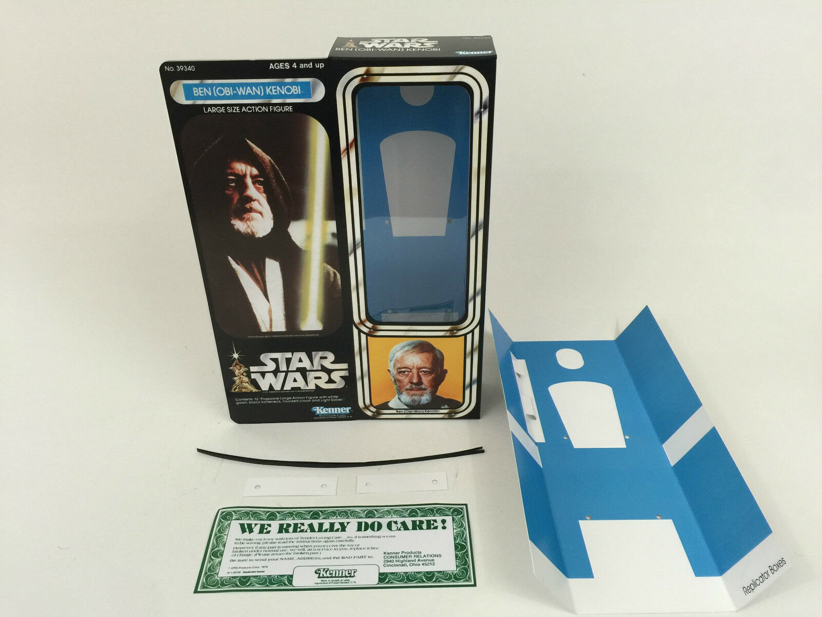 Replacement vintage star wars 12  obi wan kenobi box + inserts