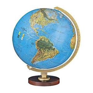 Replogle Globe Livingston Illuminated Blue Globe Geographic Two-Way Map Design