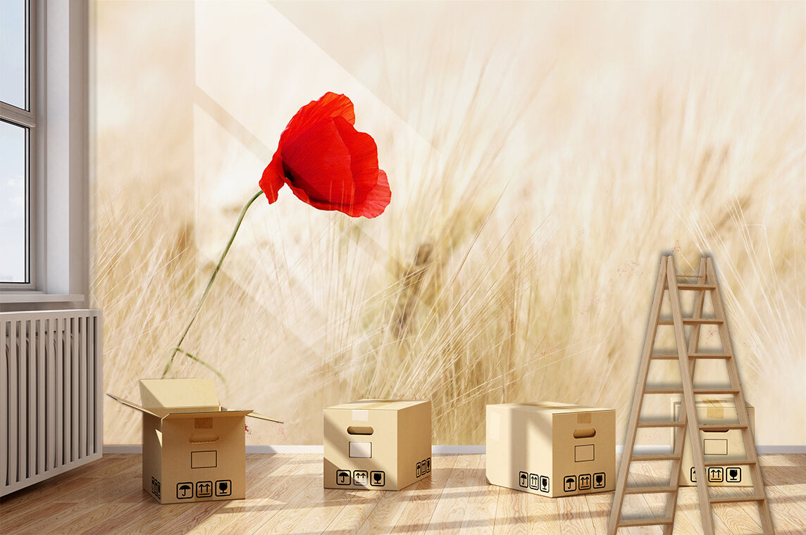 3D flower rot Bright Wall Paper Print Decal Wall Deco Indoor wall Mural