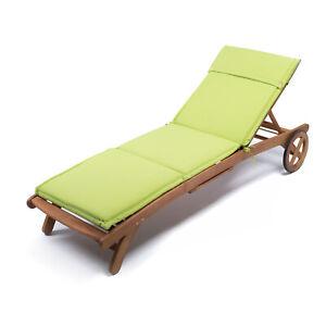 Cuscini Per Arredo Giardino.Cuscino Per Lettino In Legno Con Imbottitura 185 Cm Colore Verde
