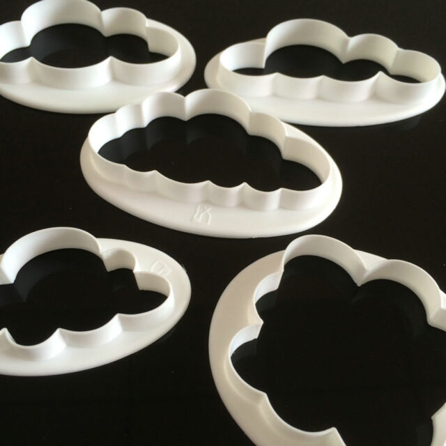 5x Cloud Cake Cutter Mold Fondant Pastry Cookie Sheep Mould Decor DIY Tool PO