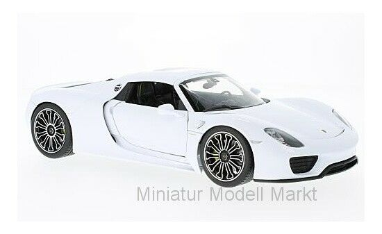 18051 - Welly Porsche 918 Spyder - weiss black - Hard Top - 2011 - 1 18