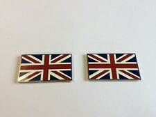 PAIR SELF ADHESIVE UNION JACK BADGES CLASSIC CAR MINI MG TRIUMPH GIFT