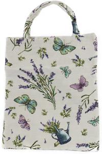 Blumen Einkaufsbeutel Lavendel Schmetterling Gobelin Shopper Einkaufstasche